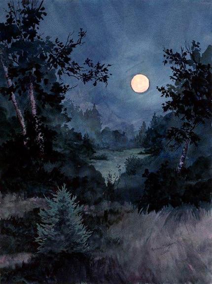 Full Moon Art In Vermont
